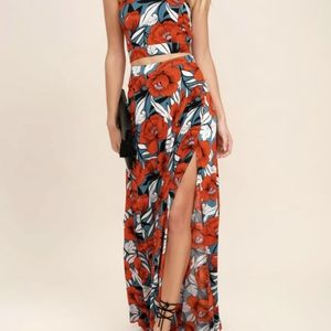 BNWT Lulu's Back to Your Roots Floral Two Piece